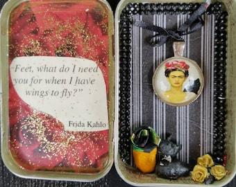 Frida Kahlo Altered Tin Shrine