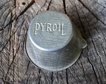 Scarce PYROIL Oil Measuring Cup - Small 1930's Motor Oil Promotional Item For Pyroil Base Oil