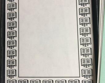 Antioch Bookplate Boarder Design of Open Books - B254