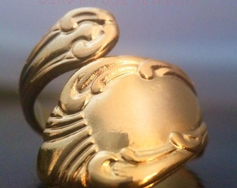 Birdhouse Jewelry  - Gold Spoon Ring