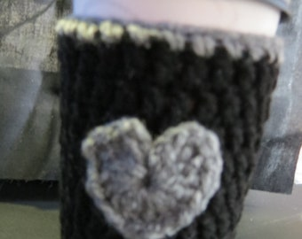 Cup Cozy, Coffee Cozy, Heart Cup Cozy, Heart Coffee Cozy, Cup Cozy Crochet, Coffee Cozy Crochet, Cozie, Heart, Cup Sleeve, Coffee Sleeve