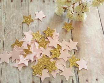 Twinkle Twinkle Little Star/Pink and Gold star Confetti/Baby girl Confetti/litter stars,twinkle star confetti/gold and pink star confetti