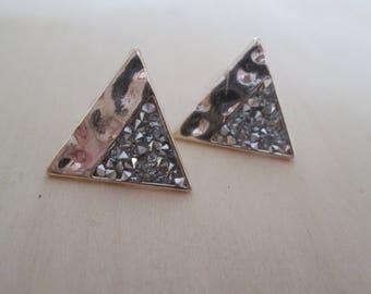 Pave Crystal Triangle Studs | Geometric Jewelry | Everyday Jewelry