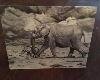 Fine Art pack de cartes postales vierges de 8 - « mère et bébé »