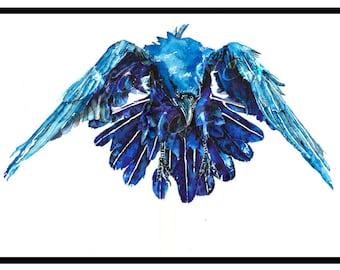 Raven Flight - Print of the Original painting by Nicholas Clack
