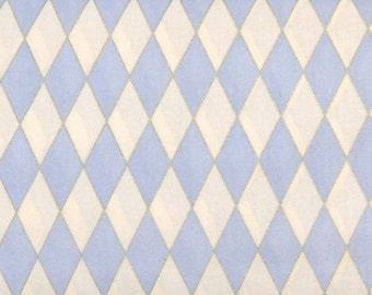 Blank Quilting - Blooming Blossoms - Blue Diamonds - BTR4758-M-Blue - 1 Yard