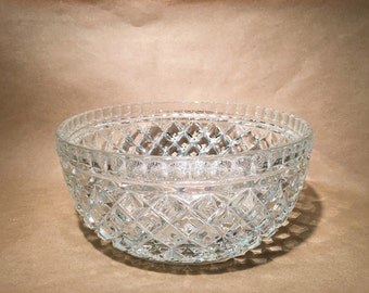 Large Crystal Bowl - Salad Bowl - Crystal Container