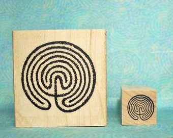 Labyrinth Maze Rubber Stamp Set of 2 New in Shop
