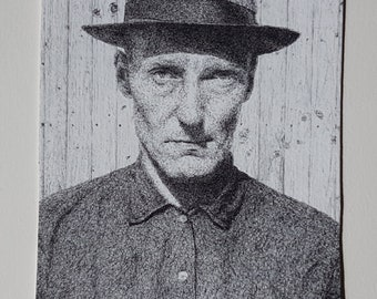 William S Burroughs ACEO Card Giclee Print