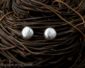 Silver Pebble Studs | Silver Earrings