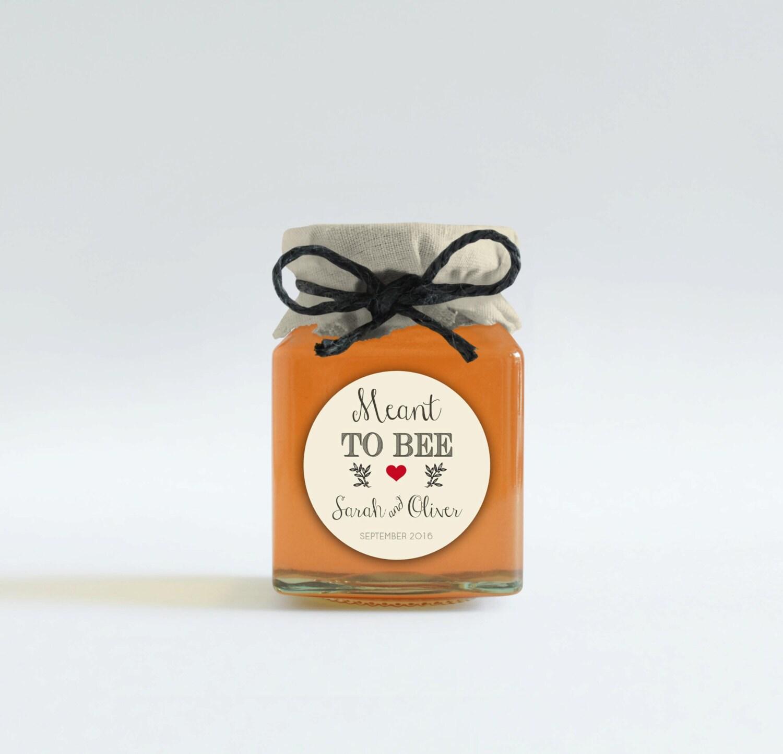 Printable meant to bee tags Custom wedding favor tags Honey