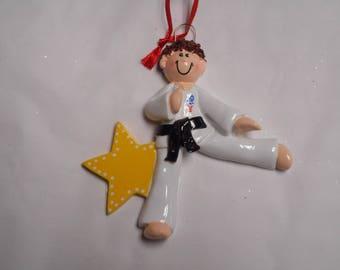 Boy Martial Arts Personalized Ornament