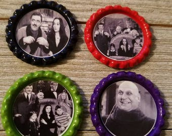 Addams Family magnets set of 4