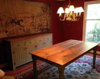 Dining Room Set, Farmhouse Table, Rustic Kitchen Tables, Solid Wood Tables, Sideboard