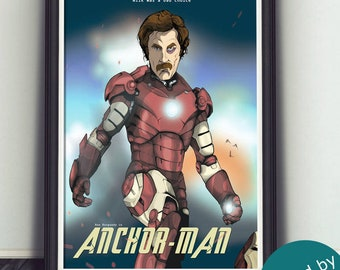 Anchorman Art Print - Limited Edition - Signed By Artist