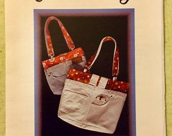 DENIM BAG Sewing Pattern - Charlene's Blue Jeans Purse Diaper Bags
