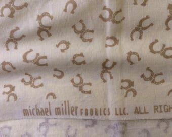 Michael Miller Horseshoe Fabric Cotton Quilt Fabric C-290