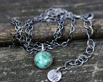 Turquoise necklace / sterling silver necklace / gift for her / jewelry sale / American turquoise jewelry / boho necklace / layer necklace