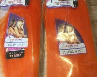 "Orange Hair Extensions 10"""