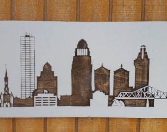 Louisville KY Skyline - Carved Wood