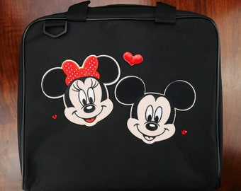 "Mickey Loves Minnie Inspired Large (14"" x 12.5"") Trading Pin Bag"