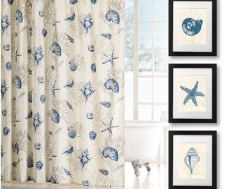 Bathroom Art Print - Bathroom Decor - Bath Art - Bath Decor - Nautical Bathroom Decor - Nautical Bath - Nautical Bath Art - Shells (NS-682)