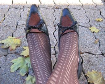 Vintage Amalfi black/brown leather Spectator heels sz  9 - 9.5M