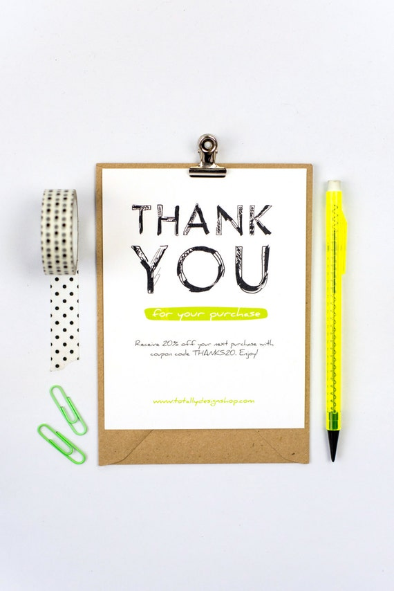 business thank you cards instant download boldly sketched
