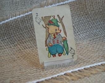 Little Piggy Animal Rummy Cards, Vintage 1939