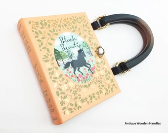 Black Beauty Book Purse - Black Beauty Book Clutch - YA Book Cover Handbag - Horse Lover Gift - Anna Sewell Pocketbook - Literary Accessory