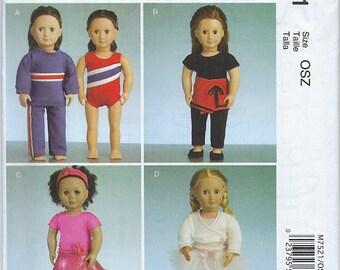 """McCalls 7521 - 18"""" Doll Clothes"""