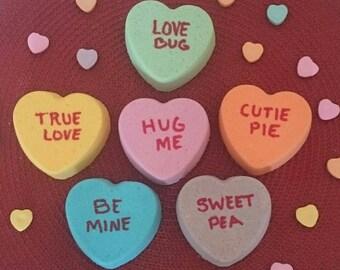 BATH BOMB / FIZZY, Valentine's Day Hearts 4 oz.