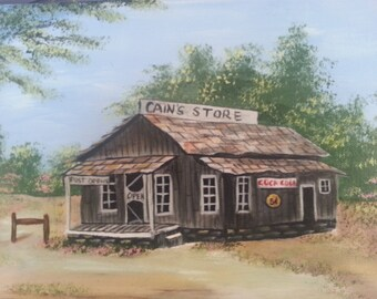 Old Country Store on Canvas