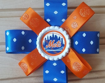 New York Mets Hair Bow