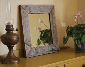 Barn wood mirror / wood reclaimed/bathroom/Bathroom/living room/nursery/rustic/barnwood mirror/wood framed mirror