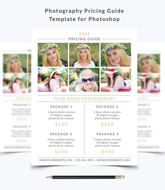Photography Rate Card Template Urgup Kapook Co