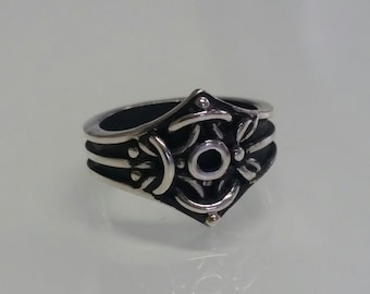 Dragon Eye Ring, Solid Sterling Silver Ring,Oxidized 925 Silver,  Antique Style,  Ring for men/women. Gift for Her/Him, Designer Ring
