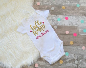 Personalized Coming Home Outfit, Baby Girl Going Home Outfit, Newborn Girl Outfit, Personalized Baby Gift, Newborn Girl Outfit Personalized