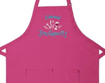 Personalized Apron Bon Appetit Women's Bib Apron