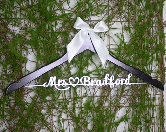 Custom Bridal Hanger, Personalized Wedding hanger, Bridal Hanger, Shower Gift from Maid of Honor, Bridesmaid Photo, Future Mrs. vet0014