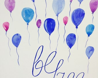 Be free... colorful art print of original illustration, wall art, watercolor, inspiration, quotes