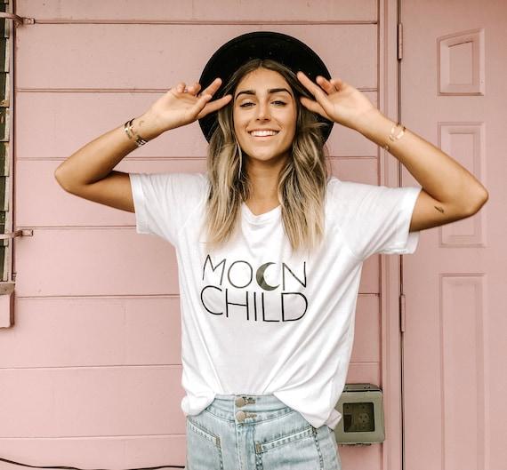 MOON CHILD Basic Boyfriend Tee, Moon Child T, Moon Child, Stay Wild Moon Child, Moon Child Shirt, Moon Child T, Moon Child T, Astrology Tee