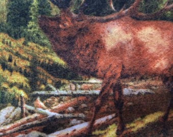 Flannel Brown Moose Pillowcase