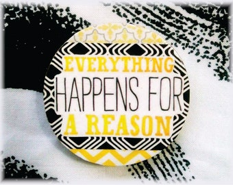 Magnet, Paper, Art, Quote, Inspiration, Collage, Decoupage, Modern, Graphic, Pattern, Chevron, Black, White, Yellow