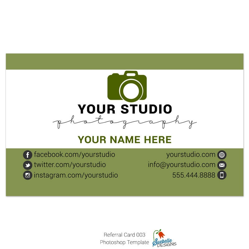 Referral Business Card Size Photoshop Template 003 for Professional ...