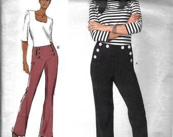 Vogue V1464 Today's Fit Sandra Betzina Button Front Pants Fitted Slightly Tapered Trousers Sewing Pattern 1464 UNCUT All Sizes