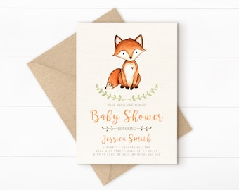 Woodland baby shower invitation digital baby shower invite woodland baby shower invitation woodland baby shower fall baby shower invitation printable forest filmwisefo Images