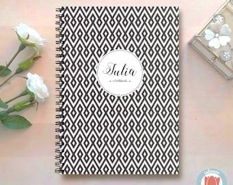 Custom Notebook | Bullet Journal Notebook | Travel Notebook | Planner | Spiral Notebook | Recipe Book | Sketchbook | Geometric | Music | 1N