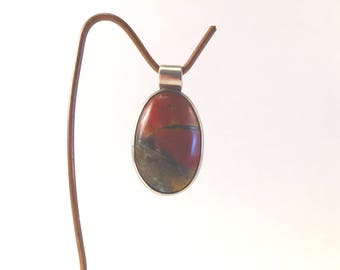 Sterling Silver and Jasper Pendant