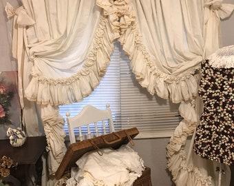Ruffled Curtain Etsy